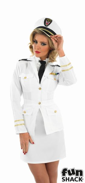 40s Lady Naval Officer Fancy Dress Costume Thumbnail 1
