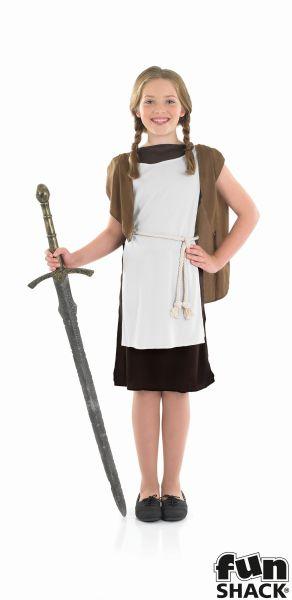 Viking Girl Fancy Dress Costume Thumbnail 2