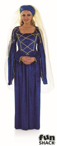 Tudor Lady Royal  Fancy Dress Costume Thumbnail 2