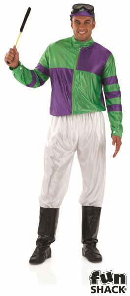 Green and Purple Jockey Fancy Dress Costume  Thumbnail 2