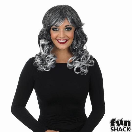Sexy Grey Temptress Witch Wig Ladies Halloween Fancy Dress Costume Accessory Thumbnail 2