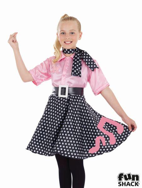 Rock N Roll Girl Fancy Dress Costume Thumbnail 1