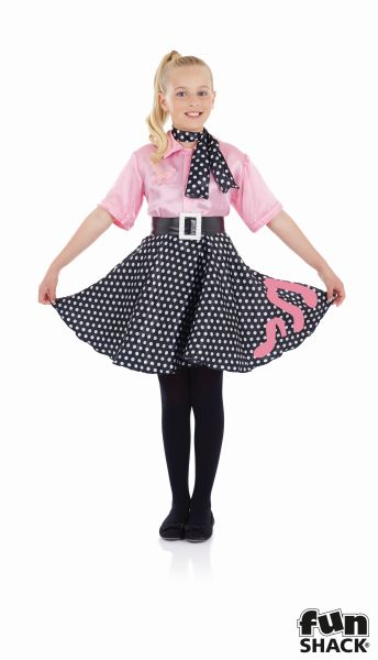Rock N Roll Girl Fancy Dress Costume Thumbnail 2