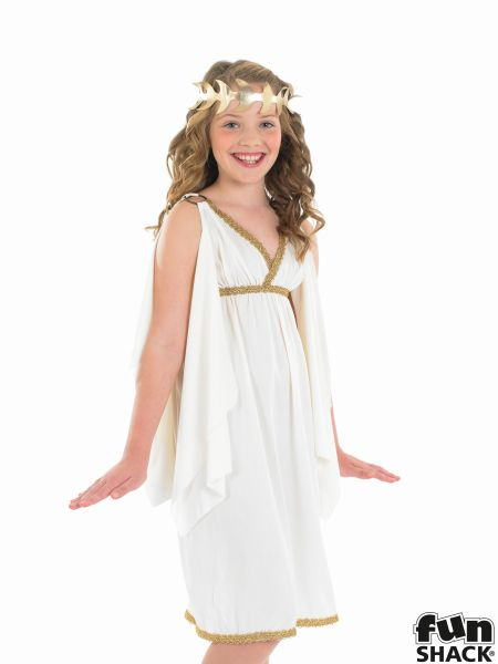 Kids Egyptian Queen Cleopatra Girls Book Week Fancy Dress Childs Costume Outfit Thumbnail 1