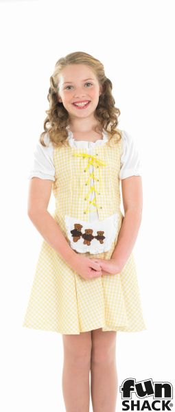 SALE Kids Storybook Goldilocks Girls Book Week Fancy Dress Childs Costume Outfit Thumbnail 1