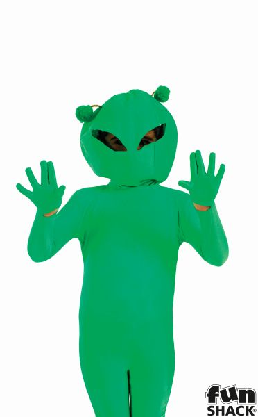 SALE! Kids Green Space Alien Boys Book Week Halloween Fancy Dress Childs Costume Thumbnail 1