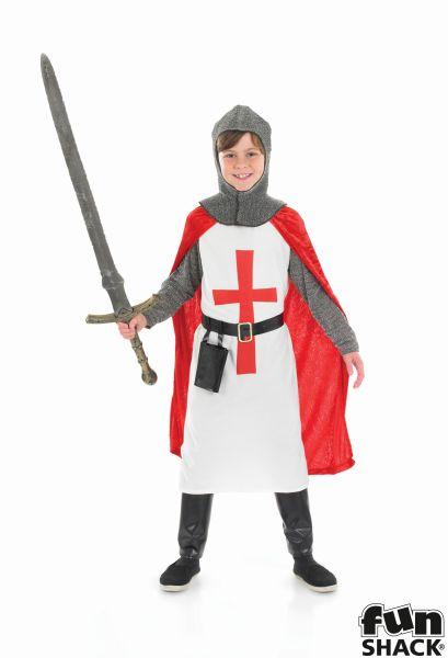 Crusader Knight Fancy Dress Costume Thumbnail 2