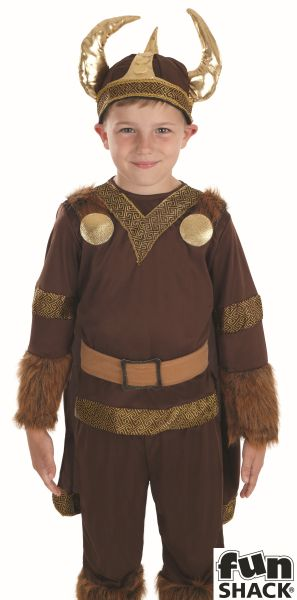 Boys Book Week Viking Costume Kids Fancy Dress Outfit Thumbnail 1