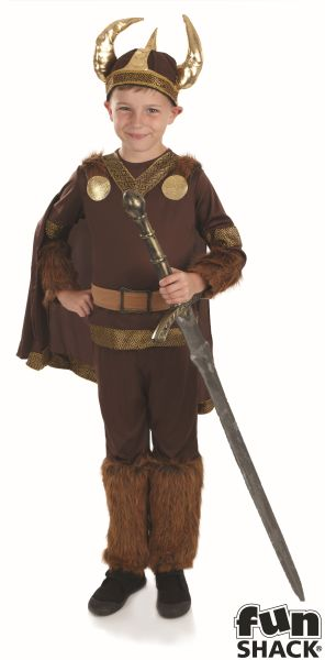 Boys Book Week Viking Costume Kids Fancy Dress Outfit Thumbnail 2