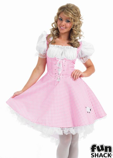 Beautiful Bo Peep Ladies Fancy Dress Costume Hen Party Outfit UK Size 8 - 26 Thumbnail 1