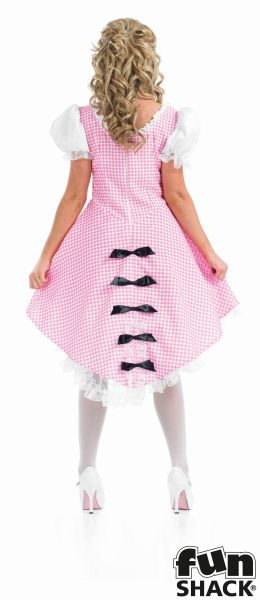Beautiful Bo Peep Ladies Fancy Dress Costume Hen Party Outfit UK Size 8 - 26 Thumbnail 2