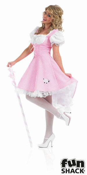 Beautiful Bo Peep Ladies Fancy Dress Costume Hen Party Outfit UK Size 8 - 26 Thumbnail 3