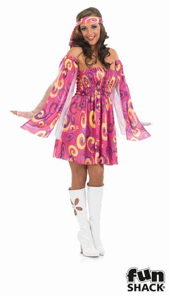 Swirl Dress Fancy Dress Costume Thumbnail 2