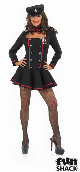 Army Commander Costume Ladies Sexy Russian Sailor Fancy Dress Hen Party Outfit  Thumbnail 2
