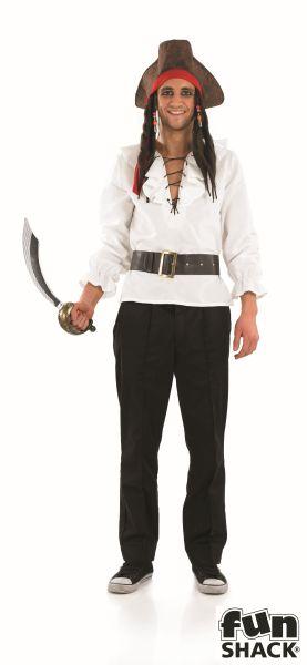 White Pirate Shirt and Belt  Thumbnail 1