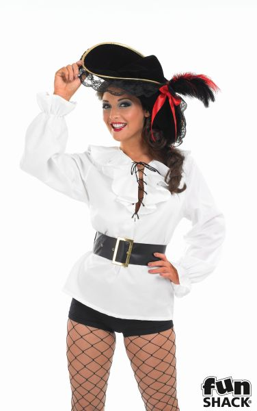 White Pirate Shirt and Belt  Thumbnail 3