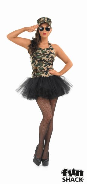 Commando Tutu Girl Fancy Dress Costume Thumbnail 2