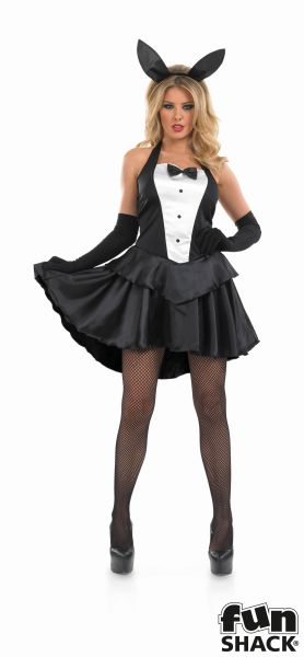 Deluxe Sexy Bunny Hostess Ladies Fancy Dress Costume Hen Party Outfit Size 8-26  Thumbnail 2