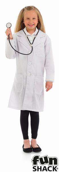 Doctors Coat Kids Fancy Dress Costume Thumbnail 1