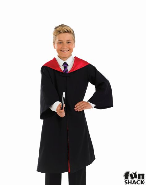 Childs Wizard Cape and Wand Fancy Dress Costume Thumbnail 2