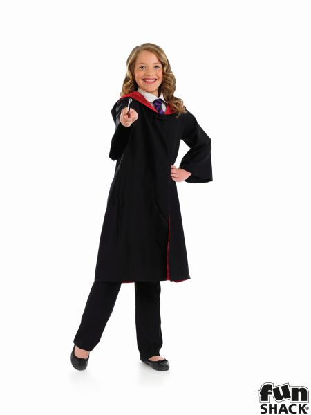 Childs Wizard Cape and Wand Fancy Dress Costume Thumbnail 4