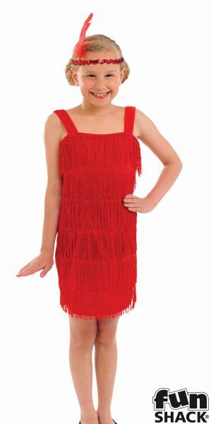 Red Flapper Fancy Dress Costume Thumbnail 1