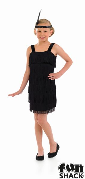 Black Flapper Fancy Dress Costume Thumbnail 2