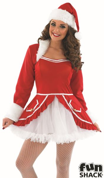Womens Santa Baby Fancy Dress costume  Thumbnail 1