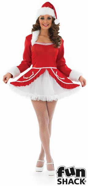 Womens Santa Baby Fancy Dress costume  Thumbnail 2