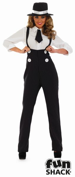 Sexy Gangster Fancy Dress Costume Thumbnail 2