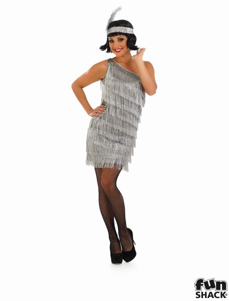 1920's Flapper Costume Ladies 20's Charleston Fancy Dress Hen Night Party Outfit Thumbnail 2