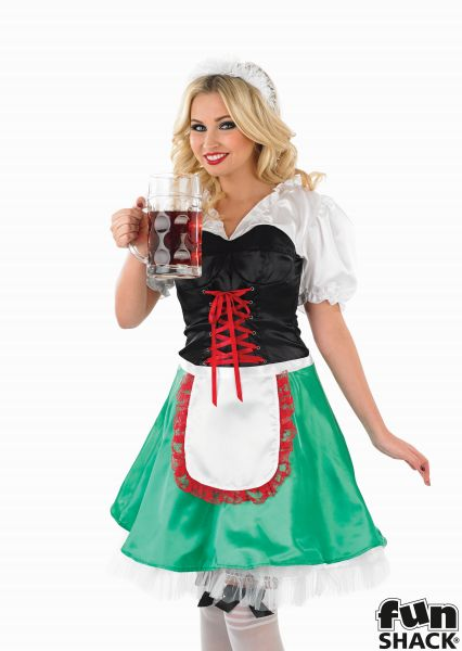 Sexy Bavarian Girl Fancy Dress Costume Thumbnail 1