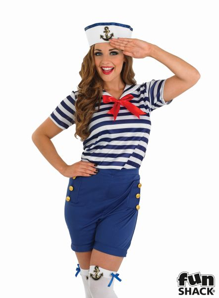 Sassy Sailor Girl Fancy Dress Costume Thumbnail 1
