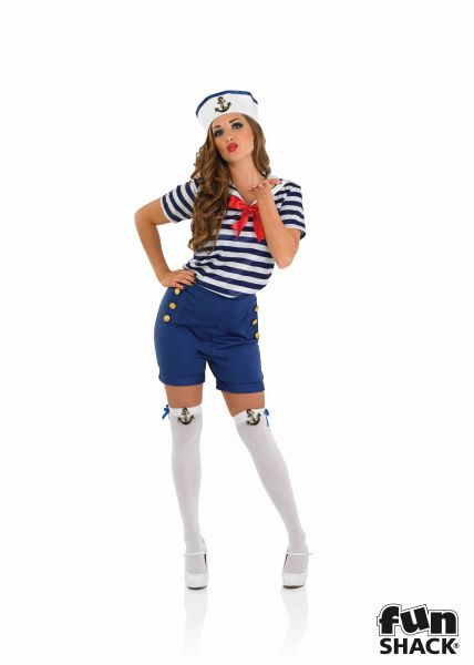 Sassy Sailor Girl Fancy Dress Costume Thumbnail 2