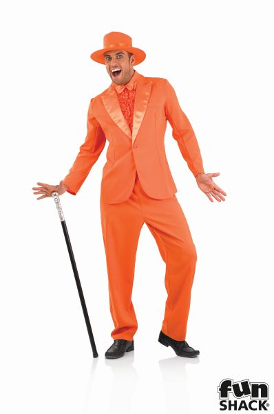 Orange Suit Fancy Dress Costume Thumbnail 2
