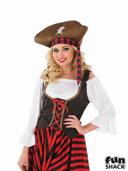 Women's Pirate Girl Fancy Dress Costume Thumbnail 1