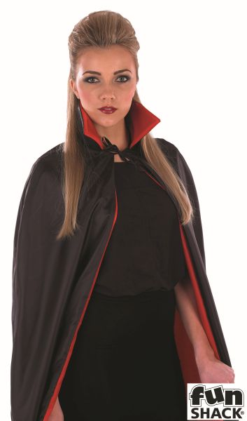Black Vampire Cape With Red Lining Thumbnail 3