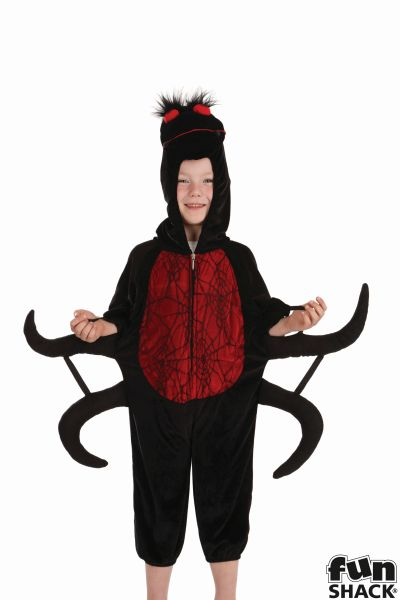 SALE! Kids Spooky Spider Boys Halloween Party Fancy Dress Childs Costume Outfit Thumbnail 1