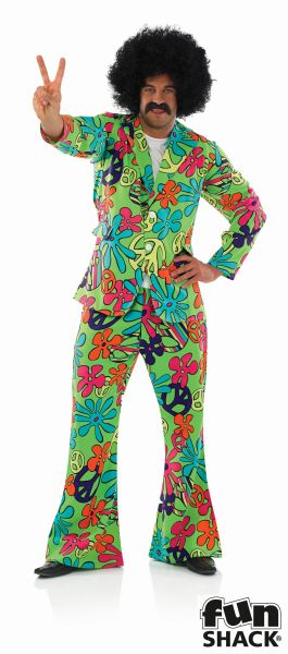 Hippie Suit Fancy Dress Costume  Thumbnail 2