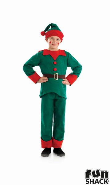 Kids Elf Fancy Dress Costume Thumbnail 1