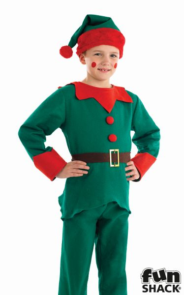 Kids Elf Fancy Dress Costume Thumbnail 2