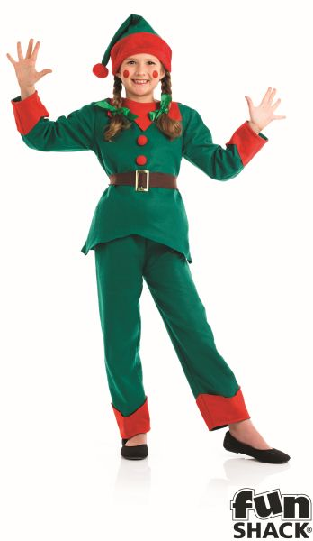 Kids Elf Fancy Dress Costume Thumbnail 4