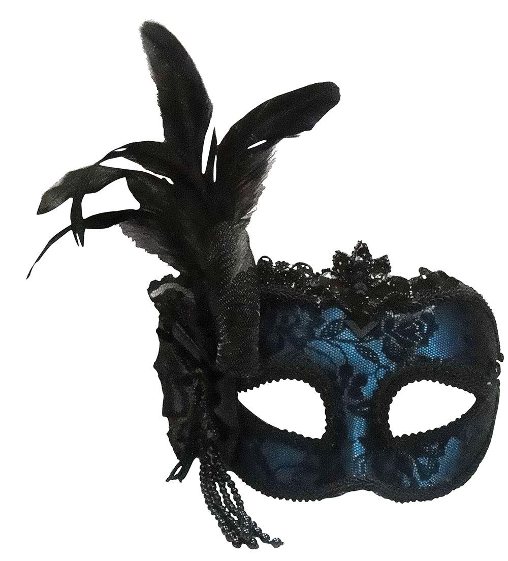 Как сделать маску из черных перьев