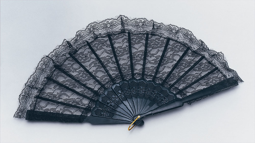 Fan. Black Lace Spanish