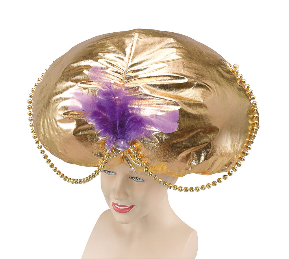 Jumbo Aladdin Hat. Gold