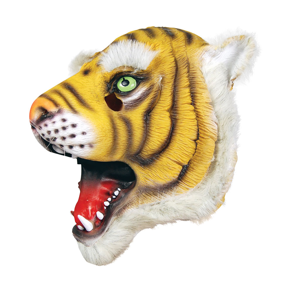 Rubber Tiger Overhead Mask