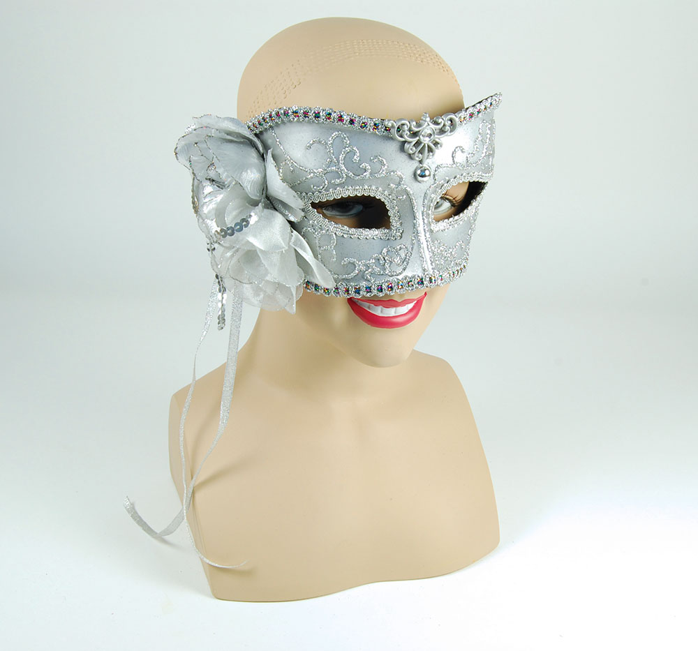 Silver Mask With Rose