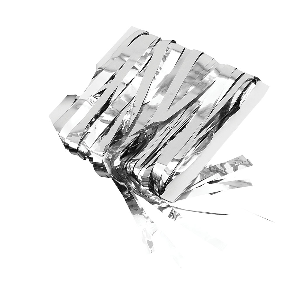Tinsel Curtain Silver