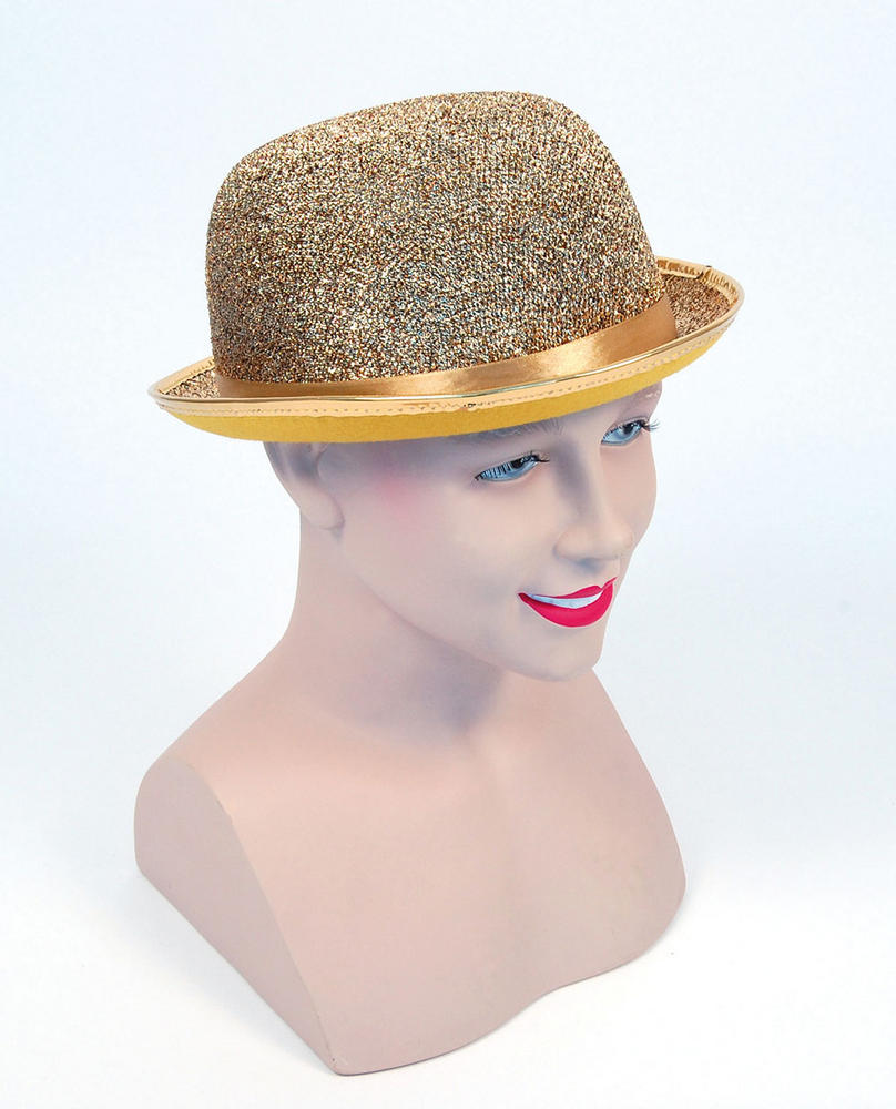 Bowler Hat Gold Lurex