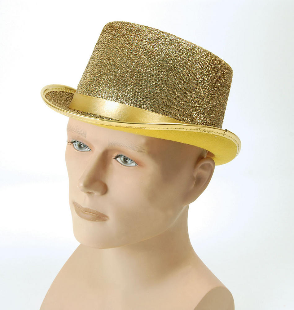 Top Hat. Gold Lurex